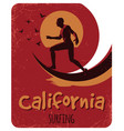 california surfing poster vector image vector image