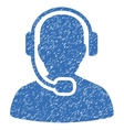 Call Center Operator Grainy Texture Icon vector image vector image
