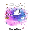 Card with stork vector image