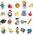 Cartoon child icon set vector image vector image