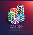 casino playing chips in stack vector image