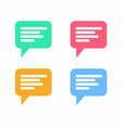 chat bubble icon vector image vector image