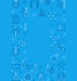 chemistry blue vertical frame chemical vector image