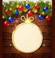 christmas gift card with baubles vector image