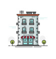 city building flat cartoon vector image vector image