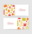 collection of autumn horizontal banner templates vector image vector image