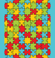 colorful puzzle seamless vector image vector image
