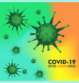 coronavirus disease covid-19 infection pathogen vector image