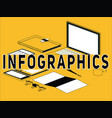 creative word concept infographics and icons vector image vector image