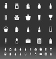 Design package icons on gray background vector image