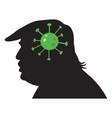 donald trump silhouette coronavirus covid19 vector image vector image
