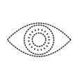 eye icon in monochrome silhouette dotted vector image vector image