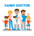 family doctor vector image