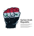 fist flag Syria vector image vector image
