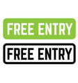 free entry stamp on white vector image vector image