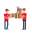 Funny pizza delivery boy vector image vector image