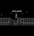 girona silhouette skyline spain - girona vector image vector image