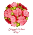 greeting card for mothers day with flowers vector image