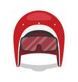 helmet motorcycle flat style vector image