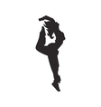 Hip hop dancer silhouette vector image vector image