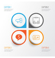 Hr icons set collection of deal personal badge vector image
