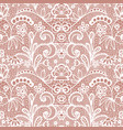 lace seamless pattern with flowers vector image vector image