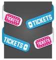 left and right side signs - tickets vector image vector image