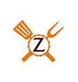 logo restaurant letter z vector image vector image