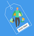 man with shopping bags and presents people vector image vector image