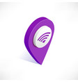 map pointer pin isometric with wifi icon vector image vector image