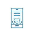 mobile components linear icon concept mobile vector image