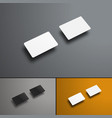 mockup of two gift or bank cards in the future vector image vector image