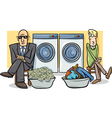 money laundering cartoon vector image vector image