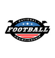 national championship american football logo vector image