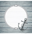 Nautical card with frame rope and anchor