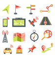 navigation isolated icons maps and location vector image vector image