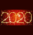 new year red banner 2020 vector image vector image