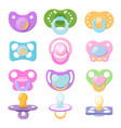 pacifier baby soother child nipple and kids vector image vector image