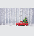 paper art of merry christmas and winter season vector image vector image