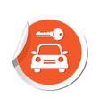 parking symbol orange tag vector image