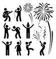 party celebration event festival a set of vector image