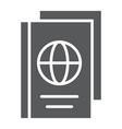 passport glyph icon document and travel vector image