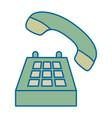 phone service isolated icon vector image vector image