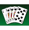 Poker hand - Royal flush spade vector image
