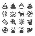 poop icon set vector image vector image