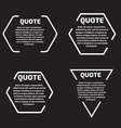 Quote text bubble Template set vector image vector image