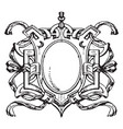renaissance strap-work frame is french design vector image vector image