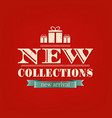 retro new collections poster vector image vector image