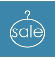 Sale Clothing Hanger vector image