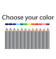 seamless colored pencils row with wave on lower vector image vector image